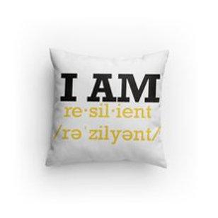 "Custom ""I Am Resilient"" Throw Pillow"