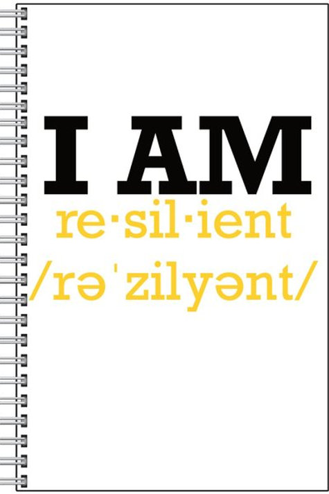 "Custom ""I Am Resilient"" Notebook"