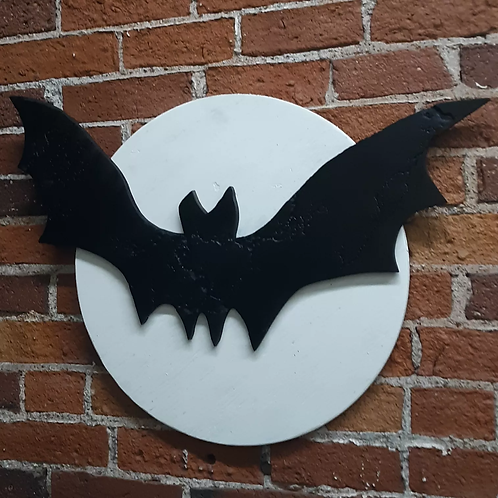 Bat on the full moon