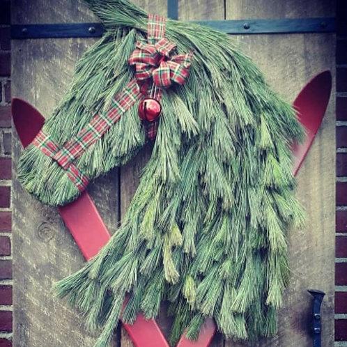 Sparks Afire Live Pine Wreath
