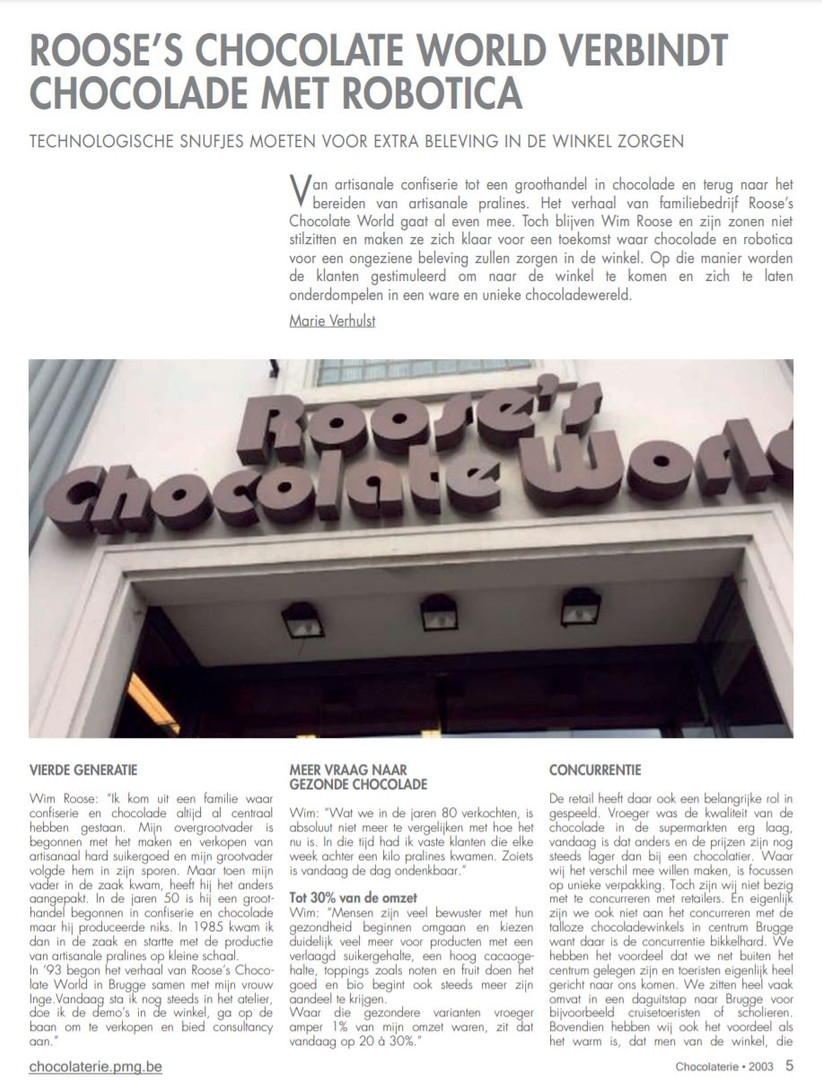 Magazine Chocolaterie 1