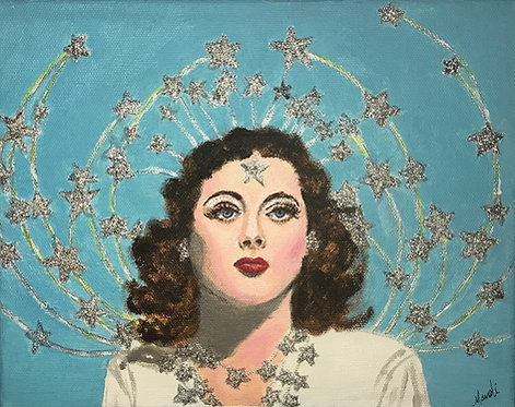 Hedy Lamarr 8x10 acrylic on canvas