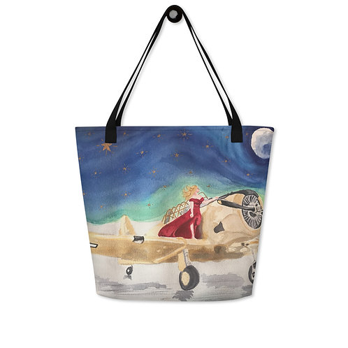 Navy Spokesmodel 16 x 20 Beach Bag
