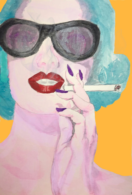 Arrest me for smoking? - 5x7 Limited Edition Giclee Print in mat