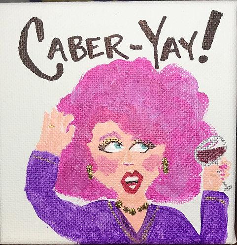 Crazy Boozy Ladies - 4x4 acrylic and glitter on 1 inch canvas