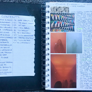 Contents page and Eliasson exhibition Research