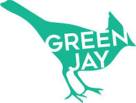 Green Jay logo - Green r30, G174, b140.j