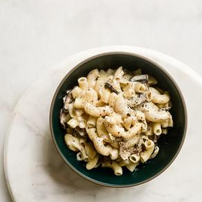Roasted Mushroom Fontina Mac & Cheese