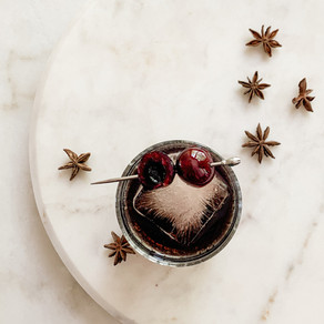 Star Anise Cherry Wine Old Fashioned