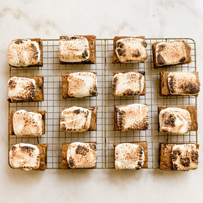 Toasted Marshmallow Brown Butter Blondies