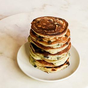 Blueberry Sour Cream Pancakes