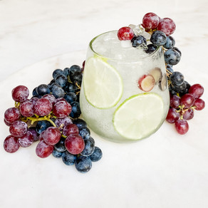 Grape Lime Vodka Rickey