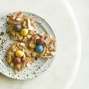 Coconut Oatmeal Nest Cookies