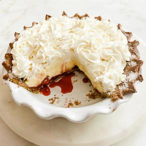 Roasted Strawberry Buttermilk Pie + Whole Wheat Crust
