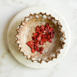 Whole Wheat Pie Shell + Roasted Strawberries