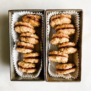 Coconut Oatmeal Sandwich Cookies