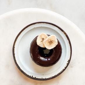 Chocolate Dipped Banana Fauxnuts
