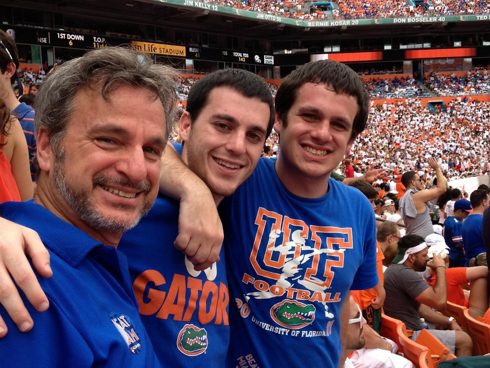 BRAD BOYS UNIVERSITY OF FLORIDA FOOTBALL GAME; EMPTY NESTERS FINALLY