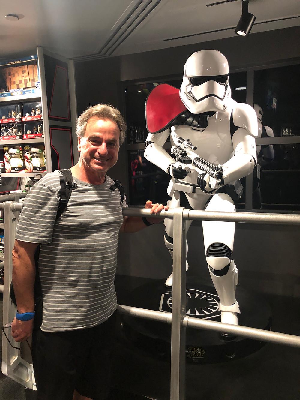 empty nester Brad vs. storm trooper, Disney World