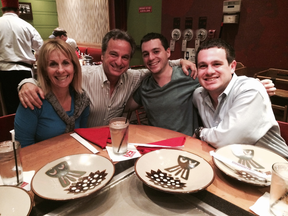 EMPTY NESTERS AND KIDS, DINNER, BENIHANA
