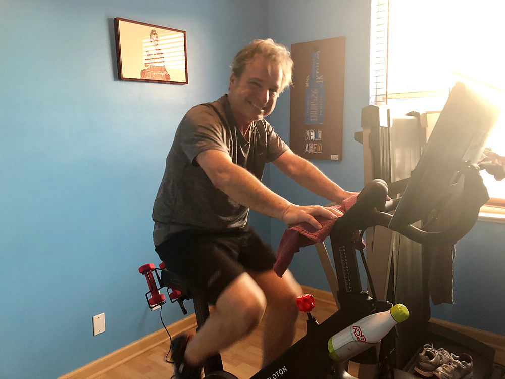 peloton bike, empty nesters, exercise