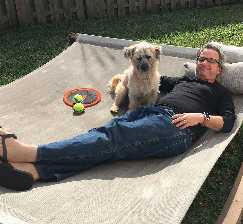 Brad relaxing Rio, outside, emptynestersfinally