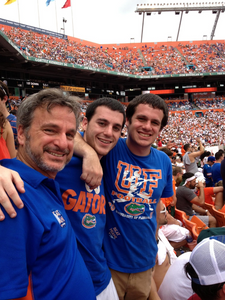 UF FOOTBALL GAME, FAMILY, EMPTY NESTERSF INALLY