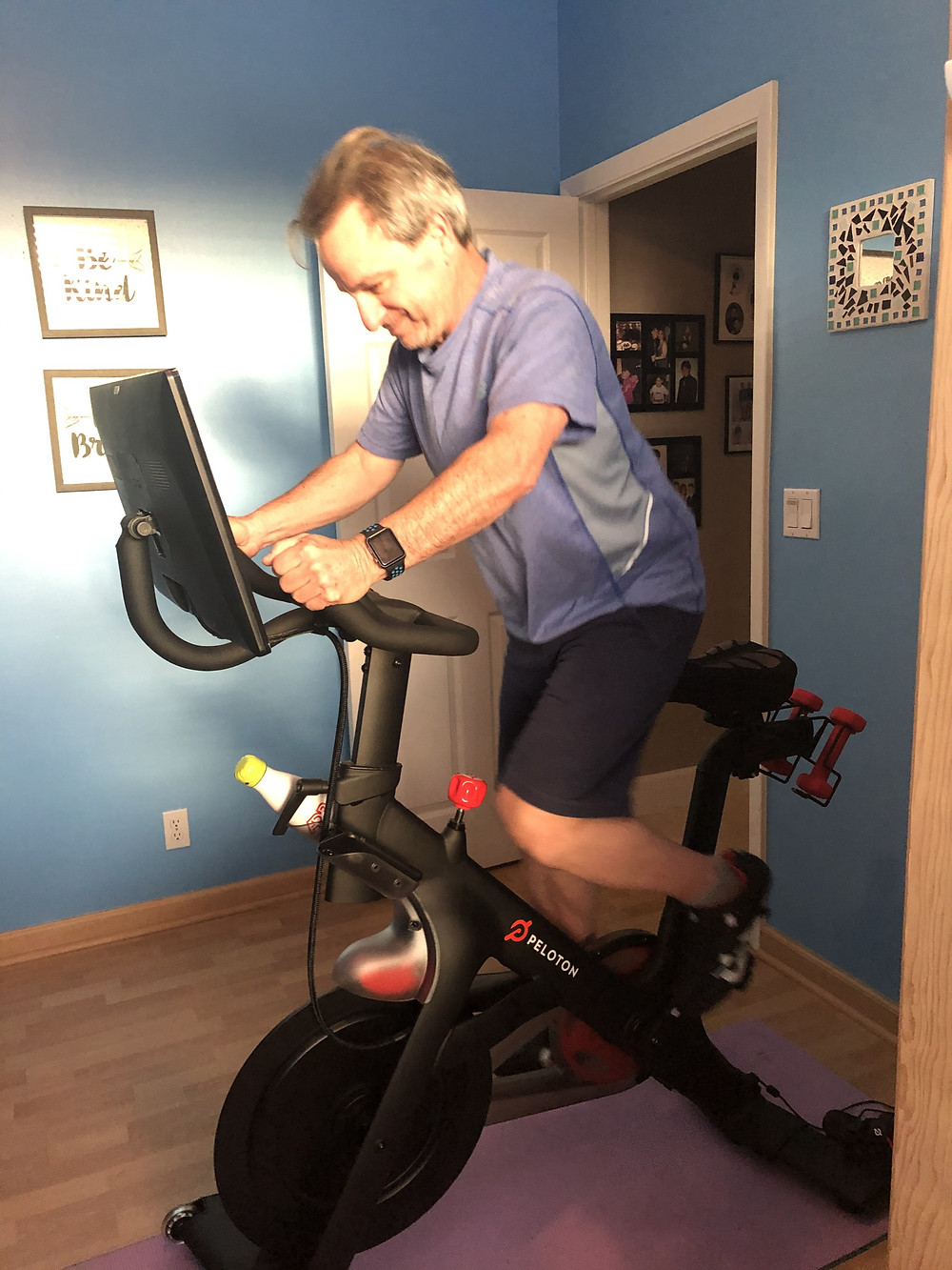 EMPTY NESTER FINALLY BRAD EXERCISES ON PELETON