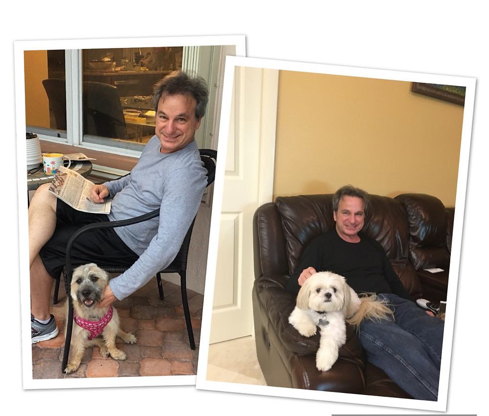 Brad and dogs, empty nesters finally