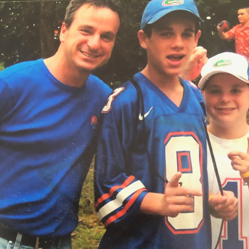 Hacker boys young first University of Florida Gator football game, empty nesters finally
