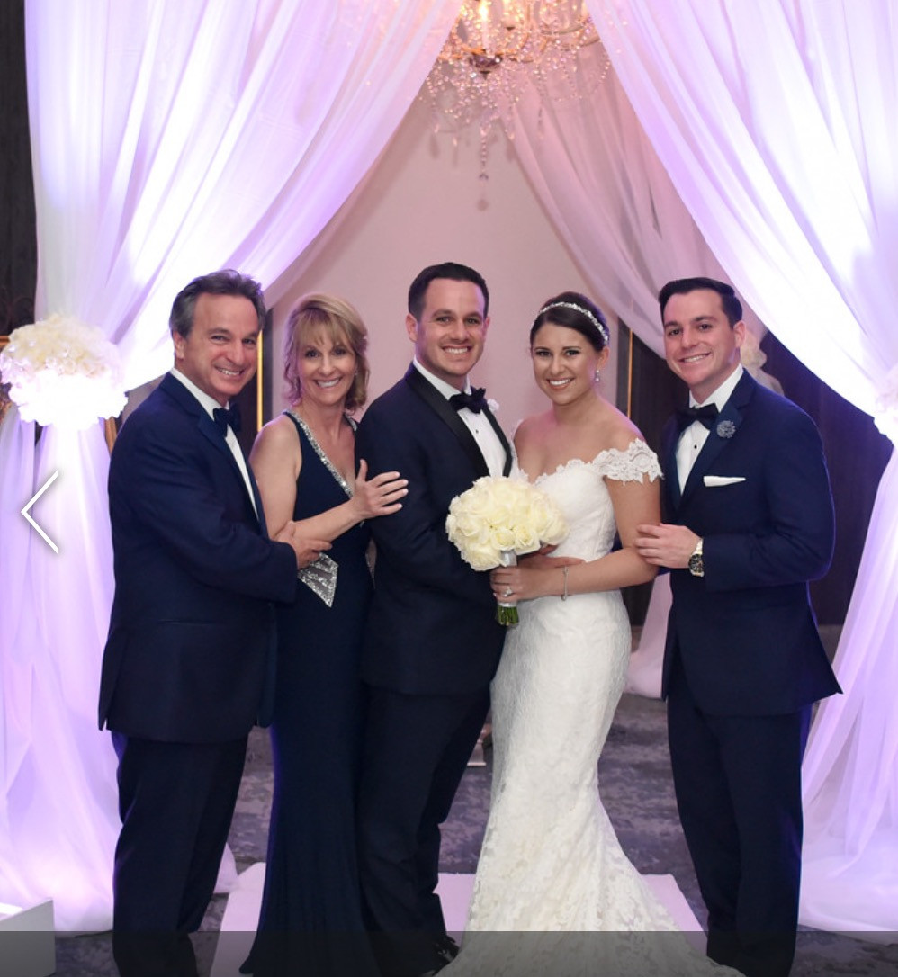 Lane and Sarah's wedding pic with Drew and empty nesters finally