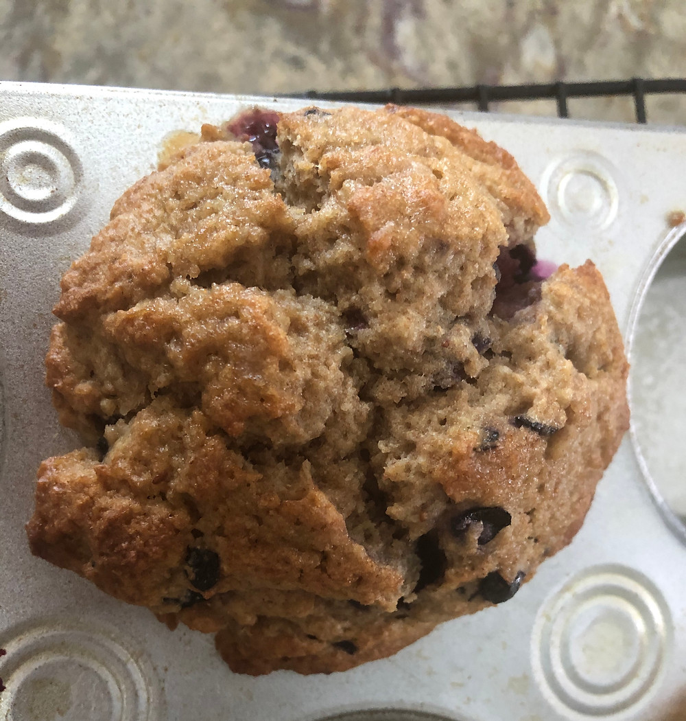 Empty Nesters Finally bakes blueberry muffins