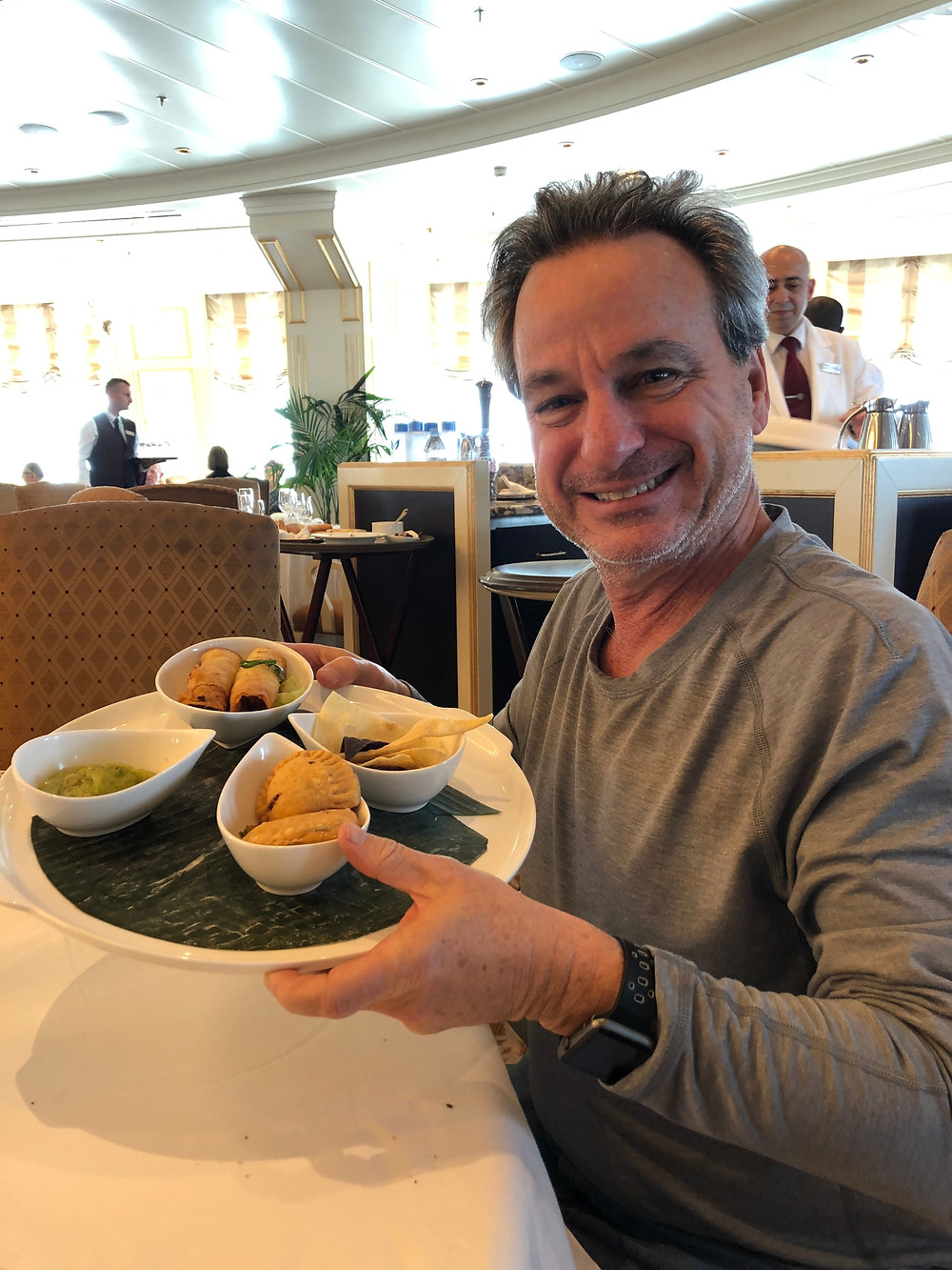 empty nesters finally, Brad eating, cruise