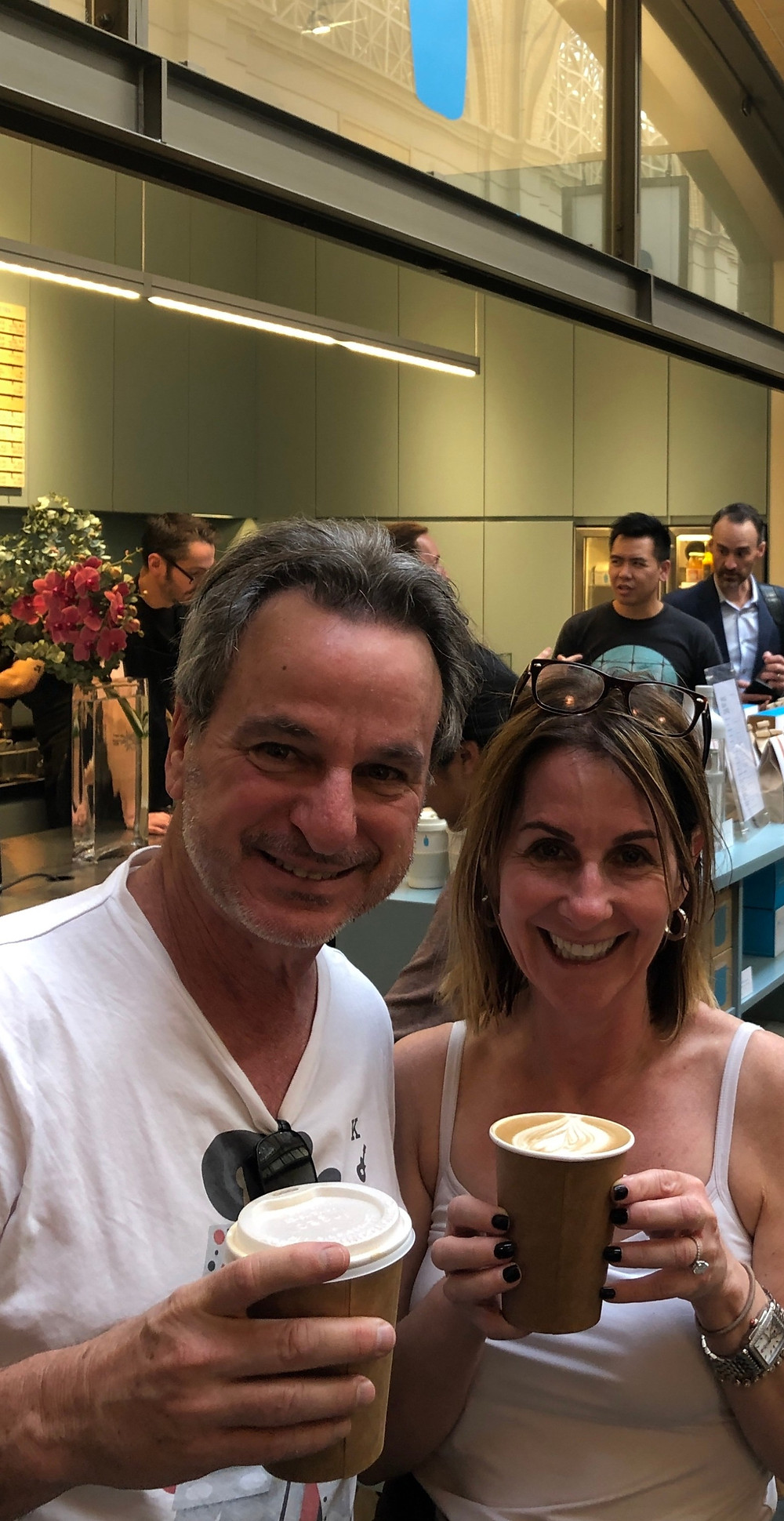 empty nesters finally drinking Blue Bottle coffee