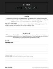 Life Resume
