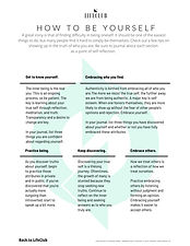 HOW TO BE YOURSELF - TJM LifeClub - PDF