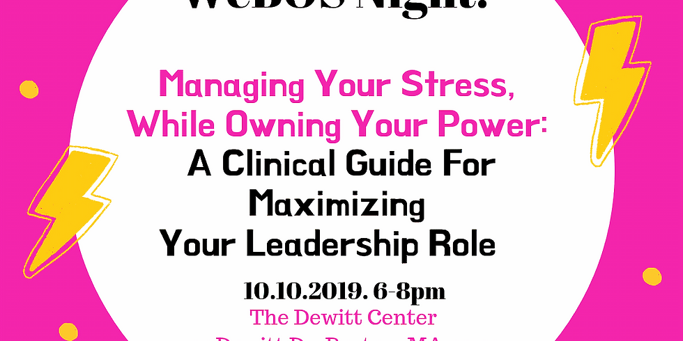 WeBOS Week: Managing Your Stress While Owning Your Power