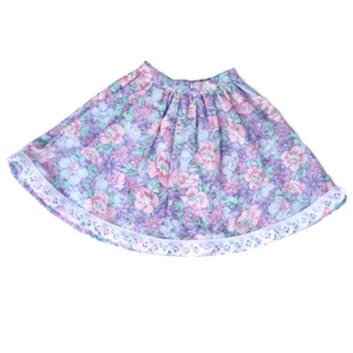 Flowered Long Skirt S-08