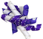 Purple Ribbon Bow  A-09