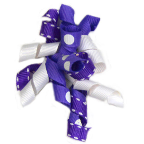 Purple Ribbon Bow  A-07