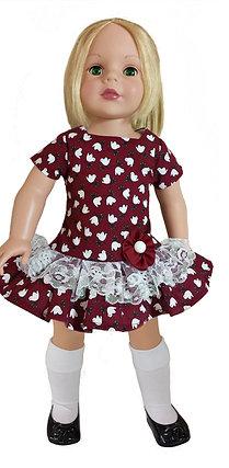 Maroon Dress D-01