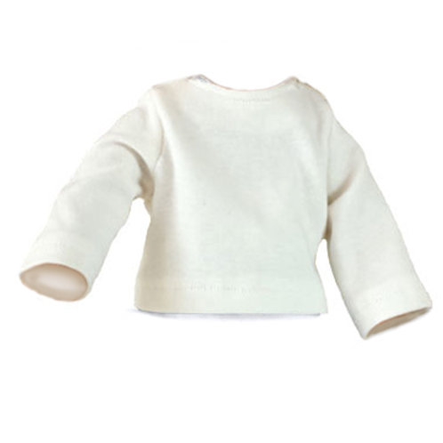 Knit Top Long Sleeve White  S-12