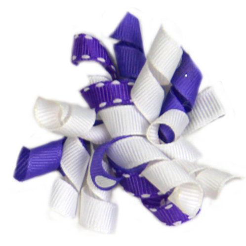 Purple Ribbon Bow  A-08
