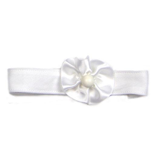 Headband White Flower A-04