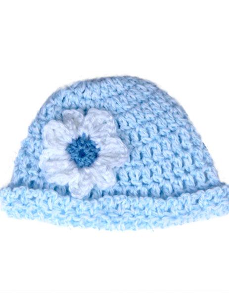 Crochet Hat Denim A-03