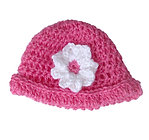 Crochet Hat Hot Pink  A-02