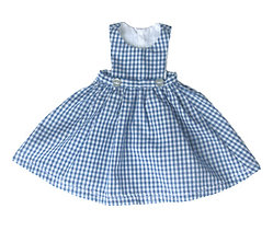 Blue Gingham Pinafore S-11