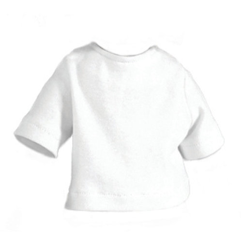 Knit Top Short Sleeve White S-13