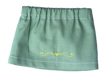 Green Skirt with Embroidered Heart  S-02