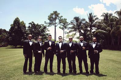 South Florida Wedding Photographer - Groomsmen Shot